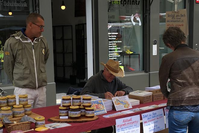 Unser Marktstand am Maimarkt vom 3. Mai 2018 in Winterthur.