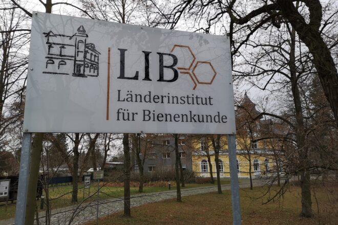 Eingang zum Länderinstitut für Bienenkunde Hohen Neuendorf