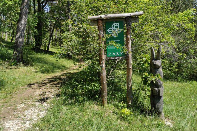 Zugang zum Naturschutzgebiet Hasenbuck