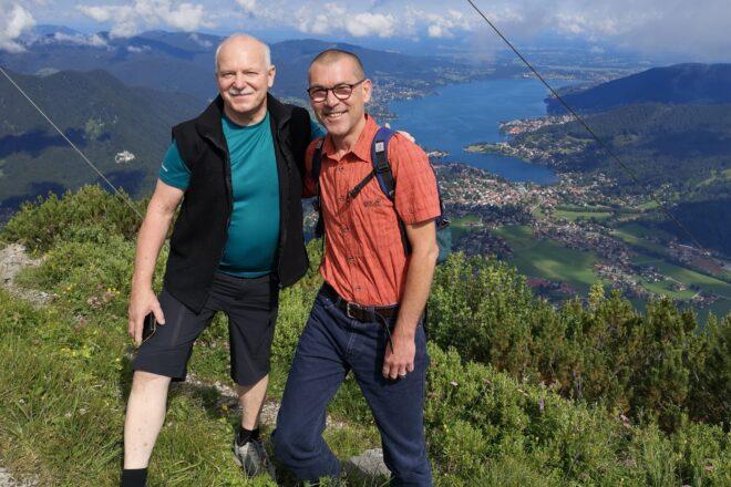 Max Stoib und ich auf dem Wallberg
