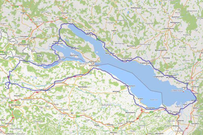 Bodenseerundfahrt: Die geplante Route